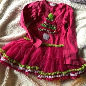 Emily Rose girls Christmas two piece size 7